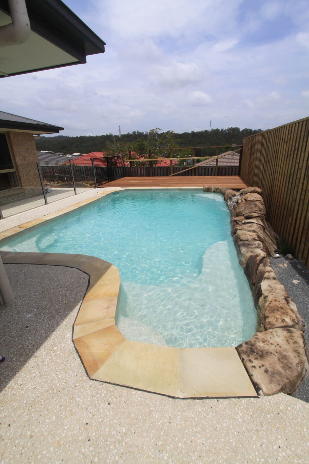 A concrete pool installed at a Cold Coast home