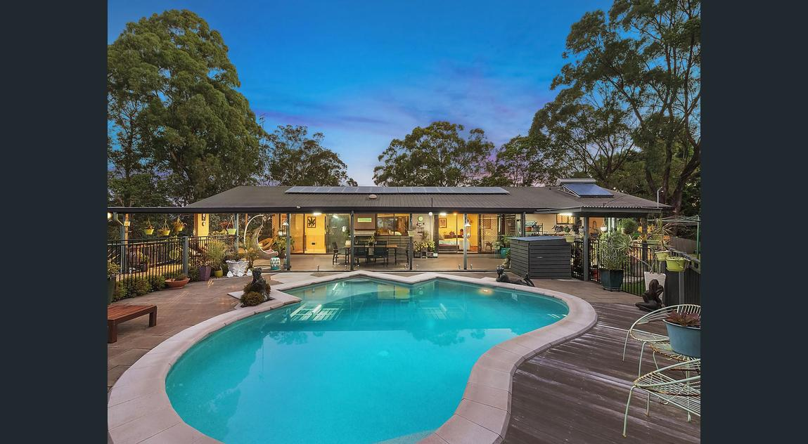 A concrete pool installed at a home on the Gold Coast