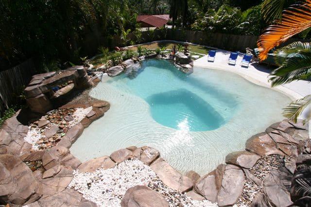 freeform concrete pool - pool builders Gold Coast