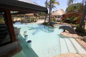 resort style swimming pool Gold Coast